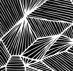 patternandco: Triangles pattern / Black and white Illustration by oelwein