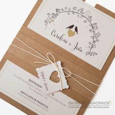 Como escolher os convites de um casamento rústico: ideias lindas! Image: 2