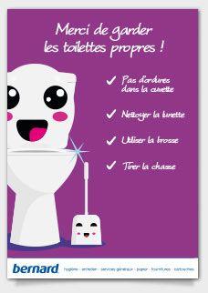 Affichette Toilettes Propreté Gardez Propre Fond Violet Toilettes Propres Toilettes Affiche Toilette