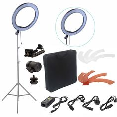 116.16$  Watch now - http://alisgw.shopchina.info/go.php?t=32757743863 - Fusitu 18'' 240pcs LED 5500K Dimmable Photography Video LED Photo Ring Light Kit for DSLR Camera  #aliexpress