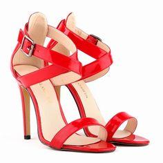 Verão sandálias golden princesa pedaço brilhante sexy de bico aberto stiletto casamento sapatos de salto alto sandálias tamanho 34 - 39 102 - 4 PA