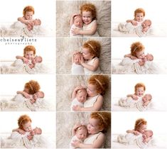 newborn and big sibling pictures in San Antonio, Chelsea Lietz Photography, redhead, red hair don't care, sisters, newborn portraits, newborn baby with sibling, newborn photos, baby photos, hugging sisters, crazy hair don't care, big sister photos, kissing baby, newborn photography, neutral baby