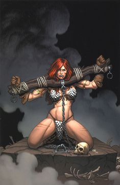 Red Sonja   Queen of the Frozen Wastes #2 cover art •Frank Cho