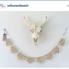 """88 Likes, 11 Comments - Wolf & Yarzz (@wolfandyarzz) on Instagram: """"Wolf & Yarzz macrame bunting at @willowandbeech homewares store in QLD. I feel very honored. Photo…"""""""