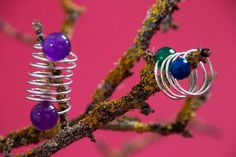 HAND MADE SILVER SPRING RINGS WITH SEMIPRECIOUS STONES