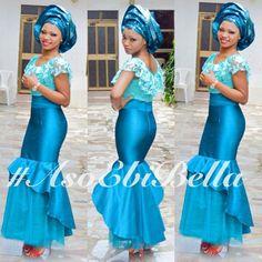 BellaNaija Weddings presents #AsoEbiBella – Fab Vol. 47!!! Blue Nigerian wedding bride inspiration gele