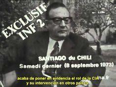 La última entrevista de Salvador Allende (1973) Mens Sunglasses, Presidents, World, Modern Man, Political Freedom, Interview, Historia, Men, Hipster Stuff