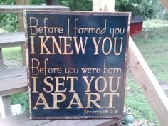 Before I Knew You, handpainted sign