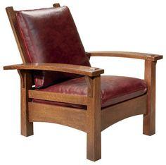 """Stickley """"Gus"""" Bow Arm Morris Chair 89/91-2340"""