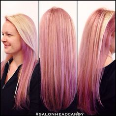 Crazy good color! Almost indescribable but let's give it a shot... Pastel pink & purple hair color with a pale blonde overlay on beautiful healthy long mermaid hair! #olaplex helped make this beauty happen!!!#salonheadcandy #wellahair #trendyhair #instalike #pretty #purplehair #pinkhair #amazing #americansalon #salonlife #dyeddollies #follow #haircolor #hairoftheday #longhair #lpweeklydo #colorist #colormelt #cherryhillnj #beautiful #blondehair #mermaidhair
