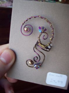 FOR HANNAH........Handcrafted Purple Fairy Fantasy Earring by TheShadowtownFerry, $34.99