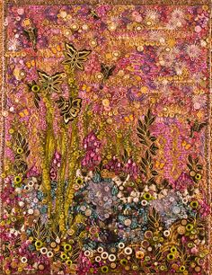gorgeous embellished art quilt