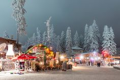 Боровец нощем. Borovets, Bulgaria at night