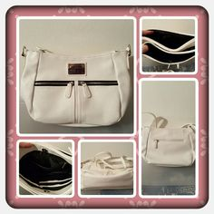 👜 NWOT White Nicole Miller Crossbody 👜  ❌FINAL❌ NWOT nicole miller white crossbody bag with adjustable strap. This bag has a lot of space for it's size there's an exterior zippered pocket as well as 3 interior pockets 1 zippered pocket and the bag has 2 sections that are on each side of the main section and they close with a magnetic snap excellent new condition 🚫 NO TRADES 🚫 NO PayPal 🚫 OFFERS FINAL MARKDOWN  👜 Nicole Miller Bags Crossbody Bags