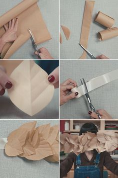 Here's a DIY for that pretty paper leaf garland I used on the neutral fall table I posted on Friday. If any steps seem a little confusing, watch the video tutorial by clicking the play button at t...