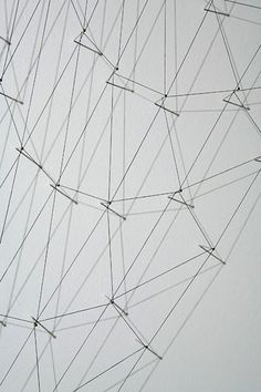 Alyson Shotz | Thread Drawing 3 (detail), 2008 Dots To Lines, Project Abstract, Study Design, Textile Fiber Art, Circle Pattern, Abstract Drawings, Science Art, Installation Art, Textures Patterns