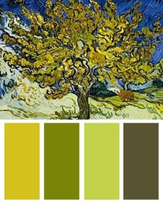 Color Palette inspired by Vincent van Gogh's The Mulberry Tree