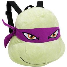 Teenage Mutant Ninja Turtle Donatello Plush Backpack, Green