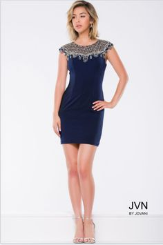 Be Crowned Homecoming Queen in JVN by Jovani Style 41533 available at WhatchamaCallit Boutique