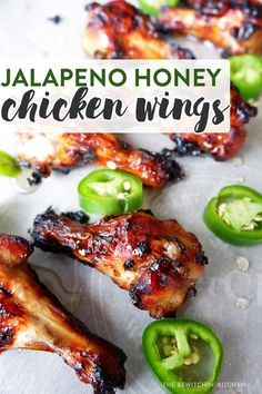 4 Points About Vintage And Standard Elizabethan Cooking Recipes! These Sweet And Spicy Jalapeno Honey Chicken Wings Are A Hit For Any Barbecue And The Perfect Summer Dinner For Any Occasion Honey Chicken Wings, Chicken Wing Sauces, Sweet And Spicy Chicken, Baked Chicken Wings, Oven Baked Chicken, Chicken Wing Recipes, Chicken Breasts, Stuffed Chicken Wings, Chicken Wing Flavors