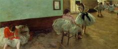 Edgar Degas The Dance Lesson c. 1879  Impressionism  Oil on Canvas 38 x 88 cm (14 15/16 x 34 5/8 in.)  National Gallery of Art, Washington, DC