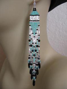 Beadwoven Native American Style Seed Bead Earrings  by pattimacs, $20.00