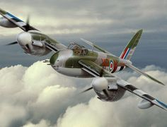 "de Havilland ""Mosquito"" illustration by Lance Russwurm"