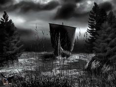 Community about Norse Mythology, Asatrú and Vikings. Viking Life, Viking Art, Viking Warrior, Viking Books, Viking Ship Tattoo, Viking Tattoos, Thai Tattoo, Maori Tattoos, Tribal Tattoos
