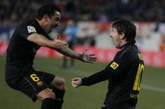 Xavi and Messi! From Atletico vs Barca