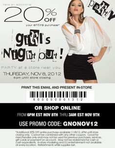 ATTEND OUR GIRLS NIGHT OUT   in store or online! #gno  click here for store listings: http://www.camillelavie.com/c-fs100.cfm