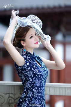 Cheongsam Dress, East Asian style. Can these hats come back into style for everyday wear. Beautiful