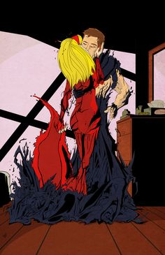 Peter and Gwen - BLUE - Symbiotes by hiddenlord.deviantart.com on @DeviantArt
