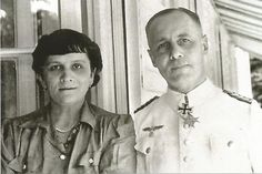 Famed German field marshal Erwin Rommel poses with his wife Lucie during WWII in a picture from his personal photo collection. Dresden, Erwin Rommel, Field Marshal, Afrika Korps, Akashic Records, German Army, Kirchen, Personal Photo, World War Ii
