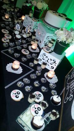 Mesa de dulce fiesta temática oso panda @ideasdiskretas