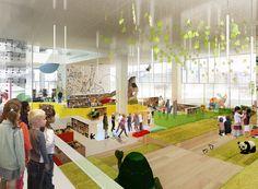 School Design | Educational Spaces | Children's library. Urban Media Space, the Multimedia House in Aarhus Harbor, Denmark. By Schmidt Hammer Lassen. Completed 2014/2015.  spotted by @missdesignsays