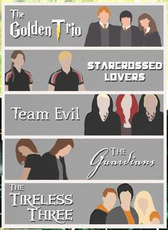 Harry Potter, The Hunger Games, The Mortal Instruments, Vampire Academy, & Percy Jackson