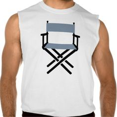 Chair Director Sleeveless Shirt Tank Tops