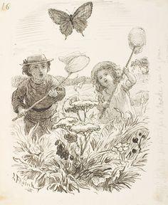 Two children catching butterflies   Lorenz Frølich   1868   Statens Museum for…
