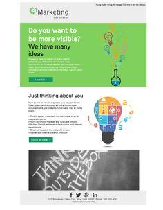 Plantilla newsletter para agencias de Marketing y Publicidad. Deja de buscar otros diseños, tenemos más de 800 para ti. Descúbrelos en la aplicación de email marketing Mailify.