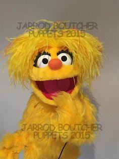 Cute Yellow Girl Monster Professional Muppet Puppet