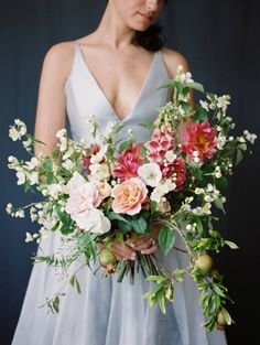 Wedding Bouquets Simple Wedding ideas blending old and new via Magnolia Rouge Bridal Flowers, Flower Bouquet Wedding, Floral Wedding, Wedding Colors, Flower Bouquets, Silk Flowers, Corsage, Wedding Bride, Wedding Dresses