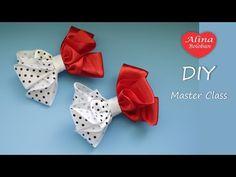 Ribbon Hair Bows, Diy Hair Bows, Diy Bow, Ribbon Flower Tutorial, Hair Bow Tutorial, Ribbon Crafts, Flower Crafts, Fabric Bows, Fabric Flowers