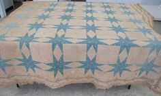 Old eight pointed star quilt