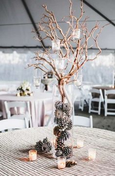 Photographer: Teale Photography; Wedding reception centerpiece idea;