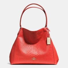 Coach Edie shoulder bag in python embossed leather Coach Edie shoulder bag  in python embossed leather. Comes with dust bag. Pictures do it no justice  Coach ... 5997949a77d54