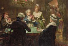 """Edward Frederick Brewtnall - """"The whist party"""""""