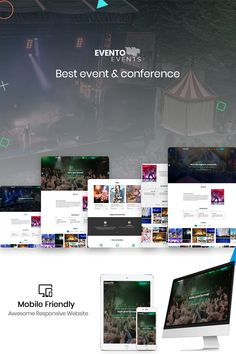 Envento - The Event Landingpage TemplateEvento - The Event Landingpage Template fits for Music Event, Seminar, Book launch, Events and summit base landing page Art Template, Brochure Template, Templates, Event Landing Page, Landing Page Inspiration, Campaign Monitor, Web Design Software, Free Advertising, Artist Portfolio
