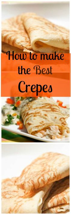 How to Make the Best Crêpes - used this recipe to go with my seafood crepes. Easy and delicious. by lolita Breakfast Plate, Breakfast Dishes, Breakfast Time, Breakfast Recipes, Mexican Breakfast, Pancake Recipes, Waffle Recipes, Breakfast Sandwiches, Breakfast Pizza