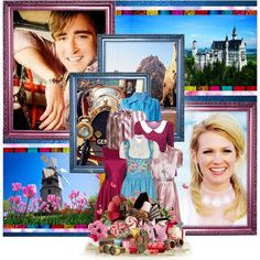 How did he touch my heart? Lee Pace as Caractacus Potts and  January Jones as Truly Scrumptious by elsabear on Polyvore featuring GERMAN PRINCESS, Temperley London, Vivienne Westwood Red Label, Ralph Lauren, Sartoria Italiana Vintage, Balenciaga, Umbra, Jenny Packham and Authentic Models