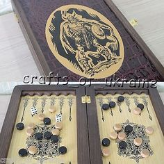 """The viking portable #quality backgammon #board 12"""", #handmade nardi НАРДЫ na,  View more on the LINK: http://www.zeppy.io/product/gb/2/291507053224/"""